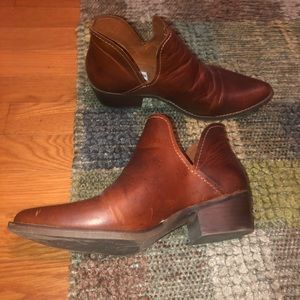 Worn twice ankle cowboy boots